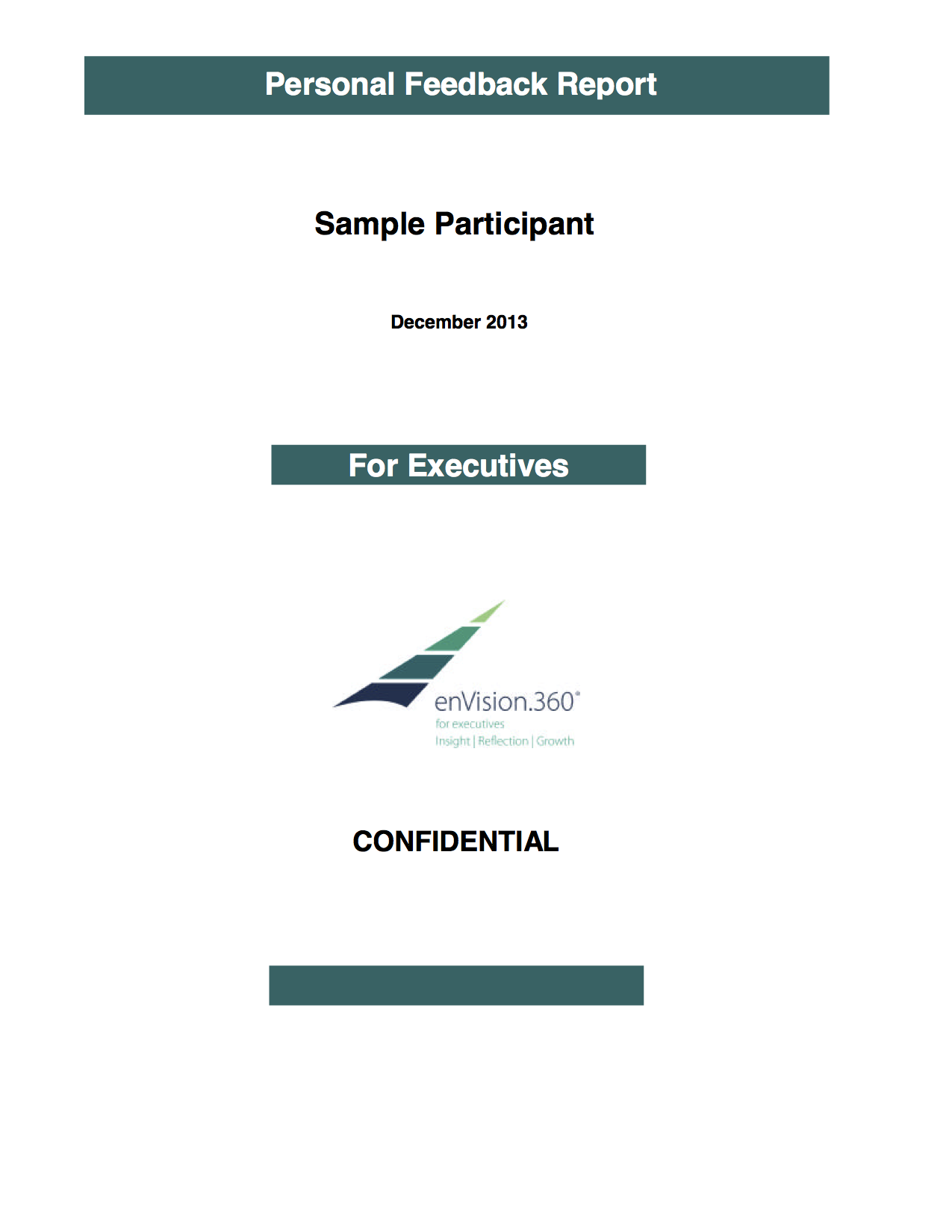 enVision.360 Sample Executive Report